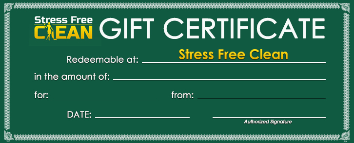 Cleaning Gift Certificate Barrie Ontario